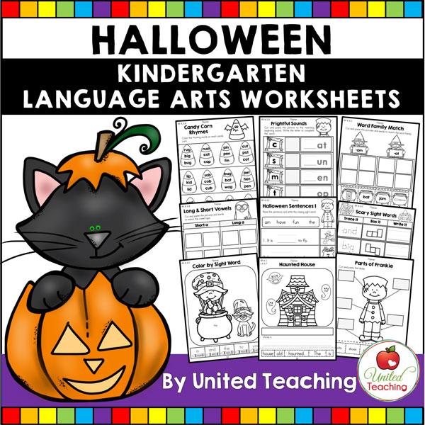 Halloween Literacy Activities (Kindergarten) Packet