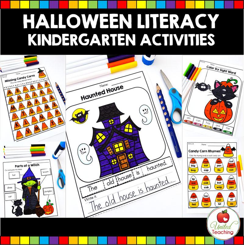 Halloween Literacy Activities (Kindergarten) - United Teaching