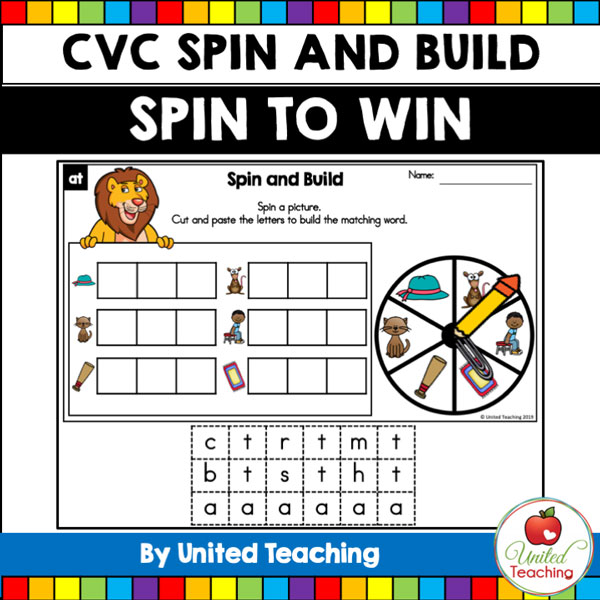 Spin to Win CVC Spin and Build games for beginning readers.