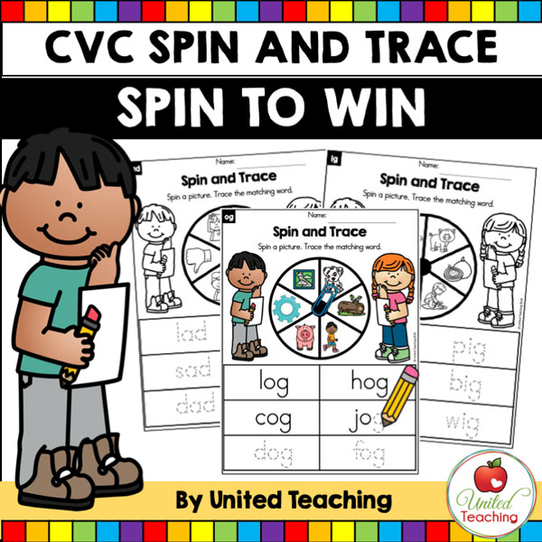 Spin to Win CVC Spin and Trace Games for beginning readers.