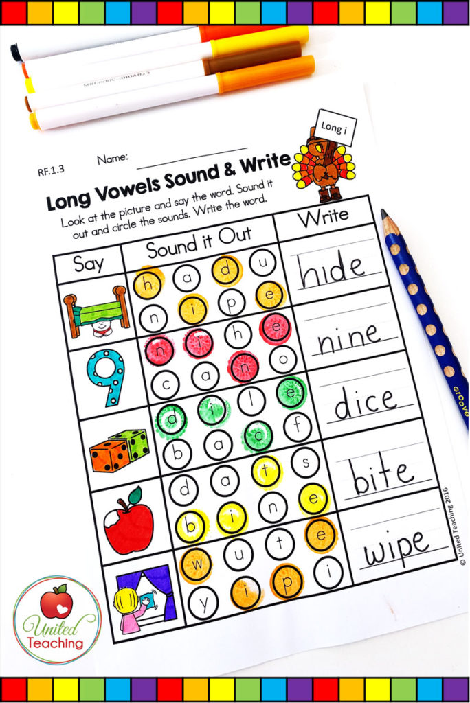 CVCE sound it out phonics worksheet