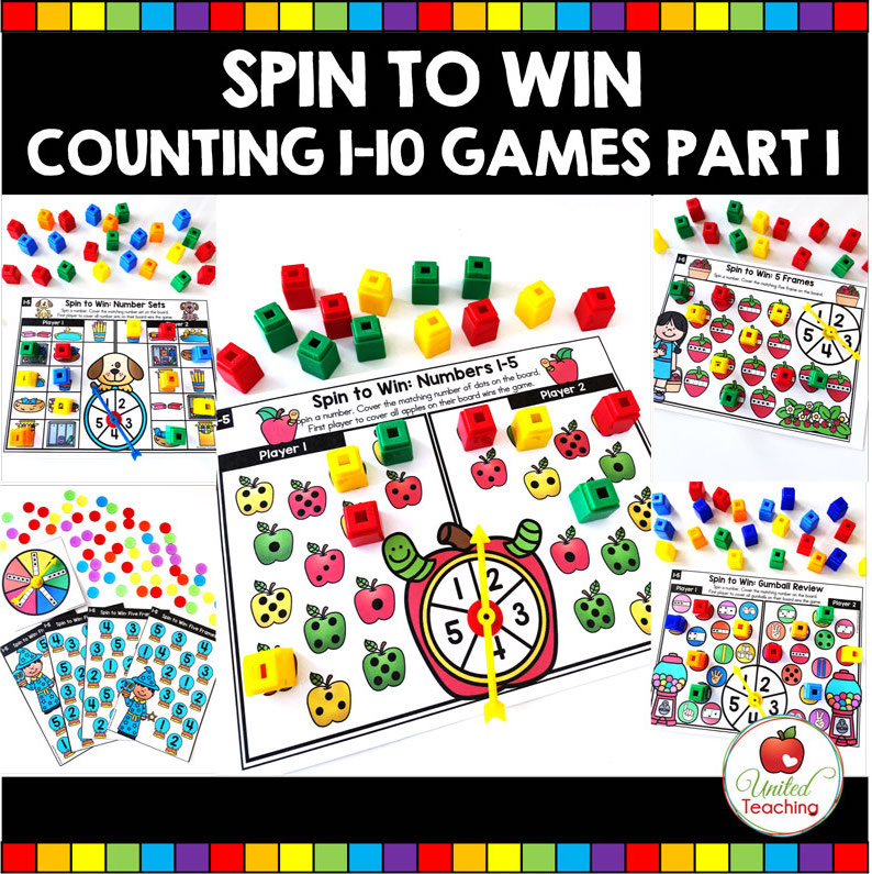 Spin to Win Counting 1-10 Games Part 1