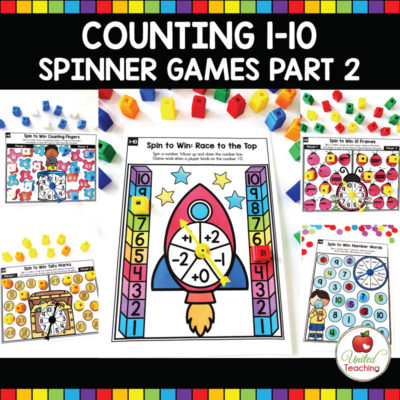 Counting 1-10 Spinner Games Part 2