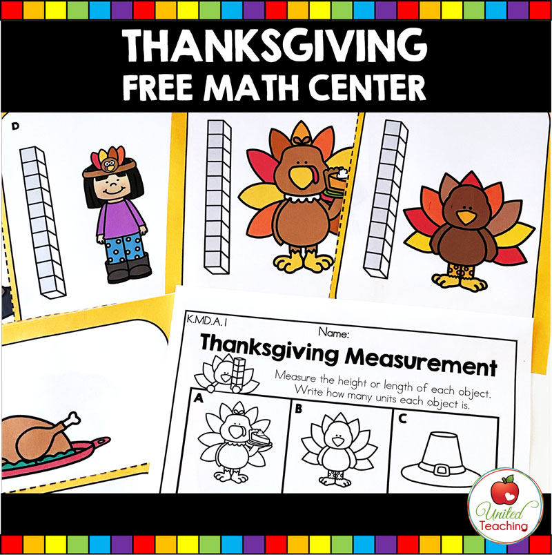 Free Thanksgiving Measurement Math Center