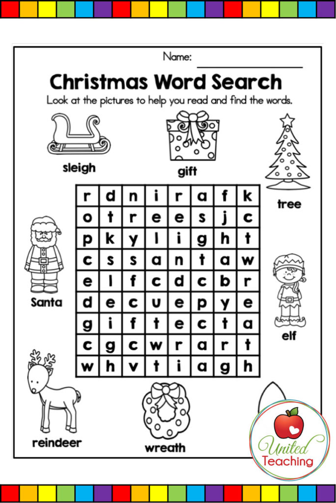 Free Christmas Word Find