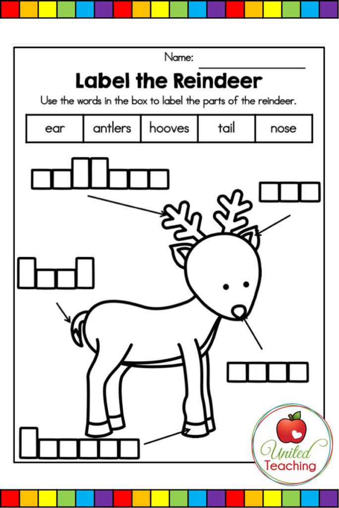 Label the Reindeer worksheet