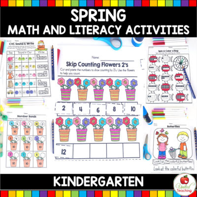 Spring Math and Literacy Activities (Kindergarten)