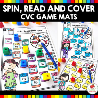 Spin, Read and Cover CVC Words