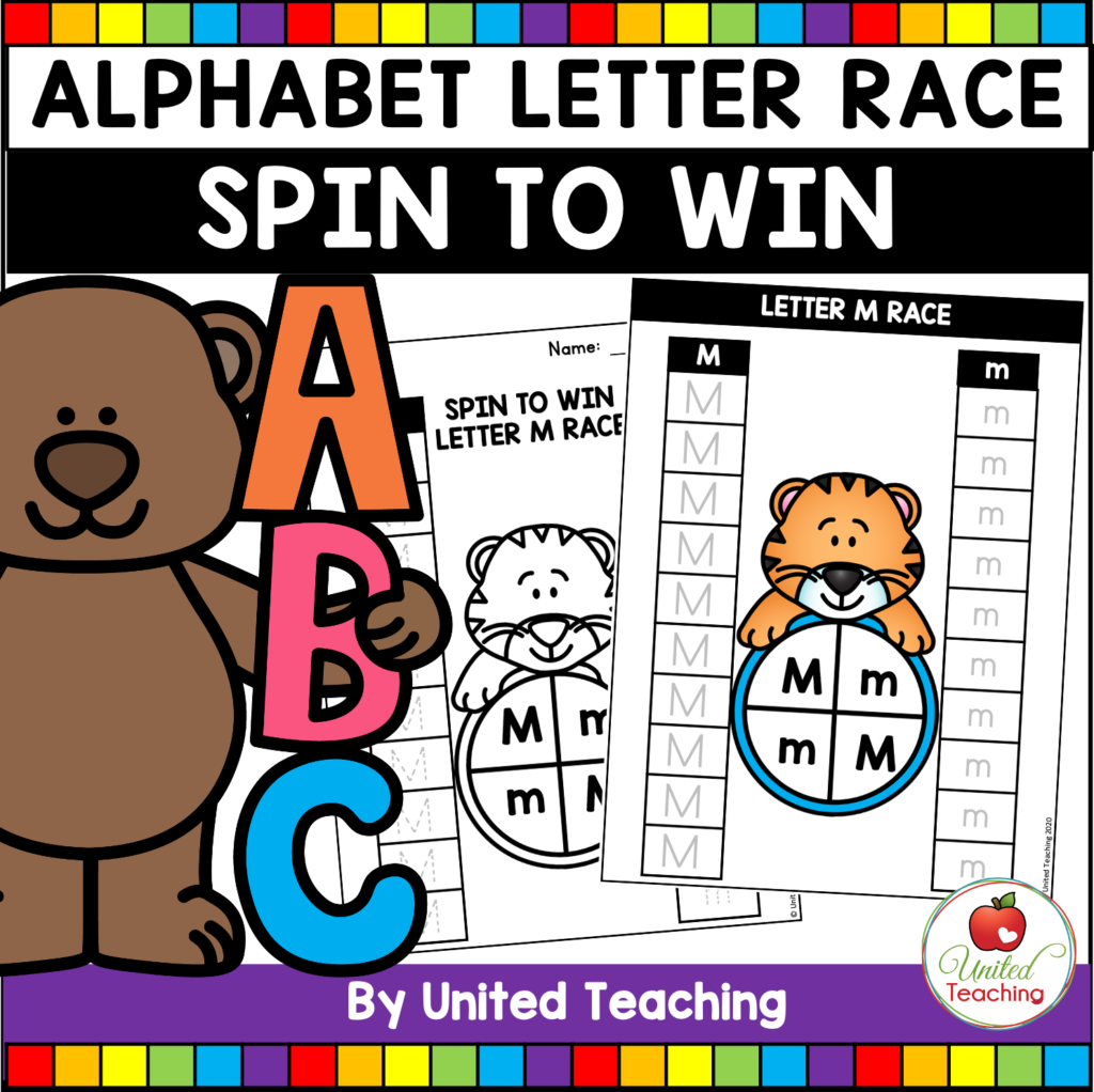 Alphabet Letter Race Games Packet