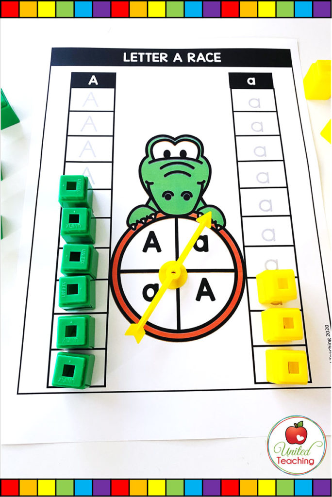 Race to the top game for Letter A