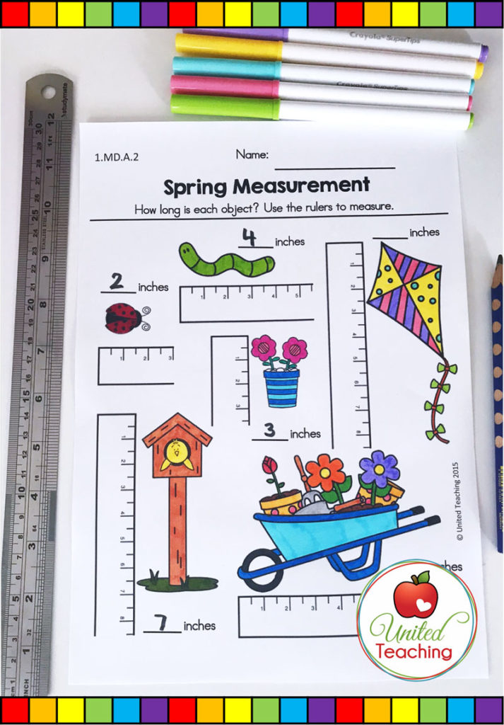Spring measurement worksheet.