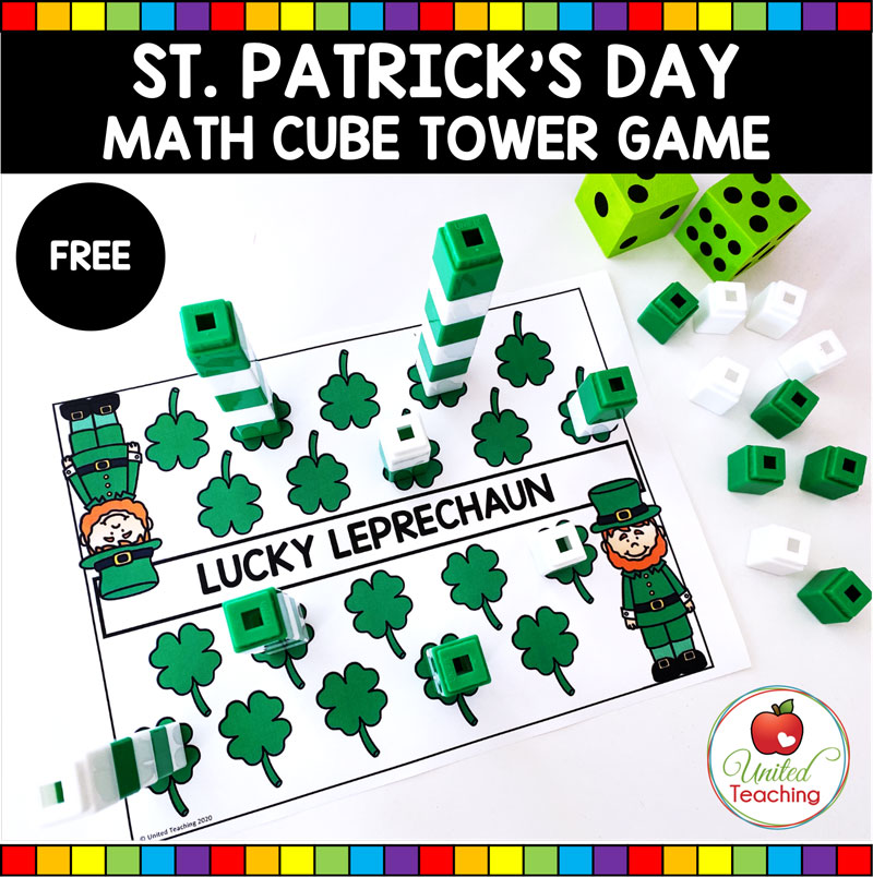 St Patrick's Day Math Center - Lucky Leprechaun