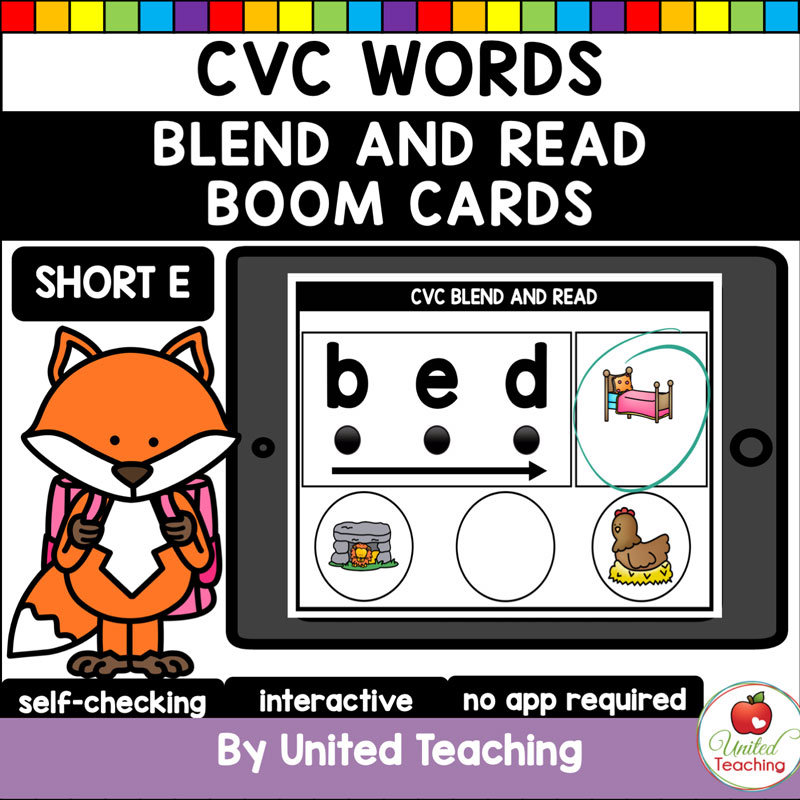 Blend and Read Short E Boom Cards