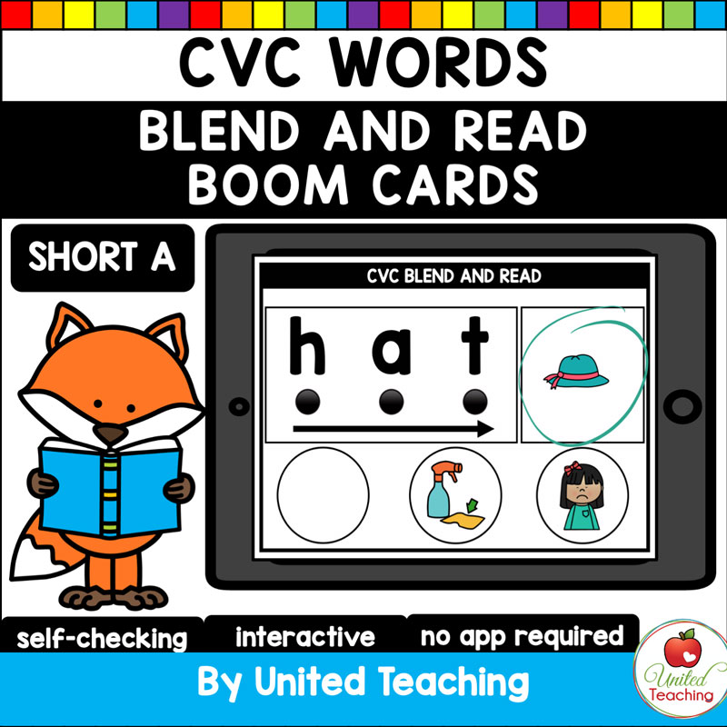 Blend and Read Short A Boom Cards