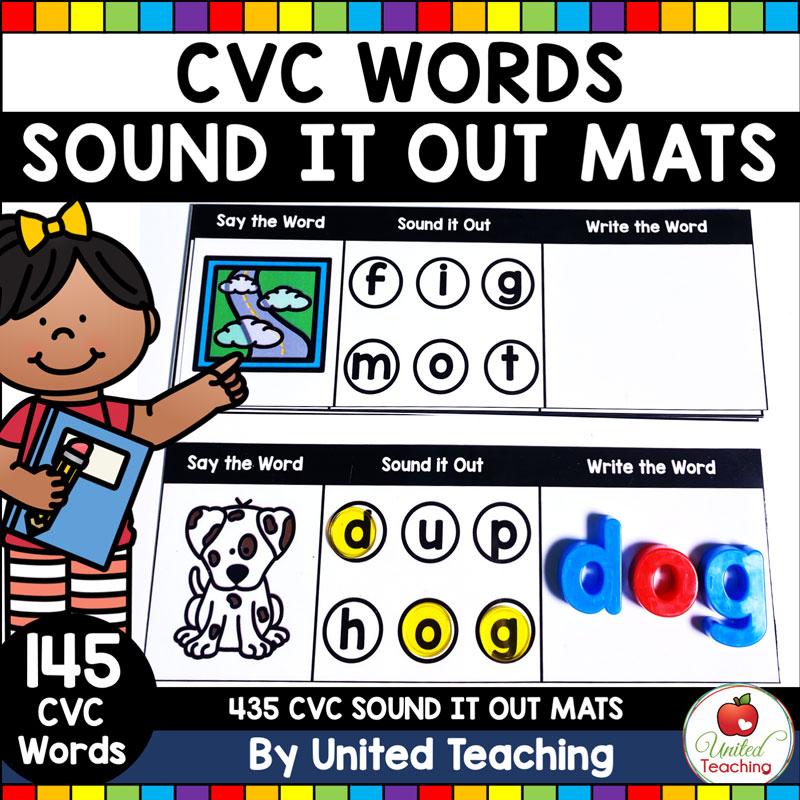 CVC Words Sound It Out Mats