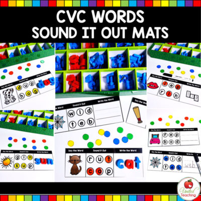 CVC Words Sound it Out Mats