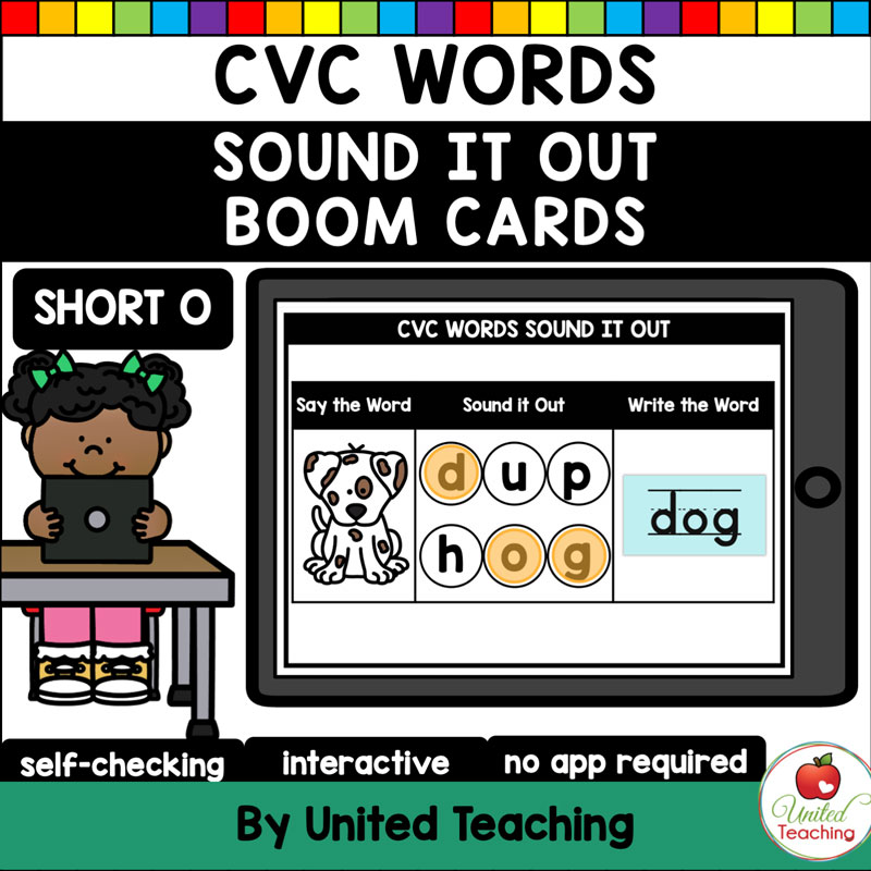 CVC Words Sound It Out Short O Boom Cards