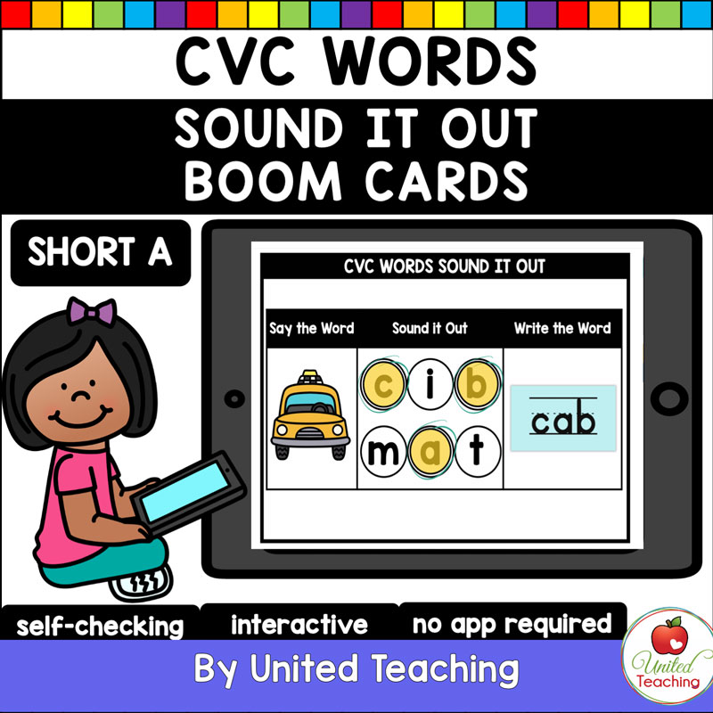 CVC Words Sound It Out Boom Cards