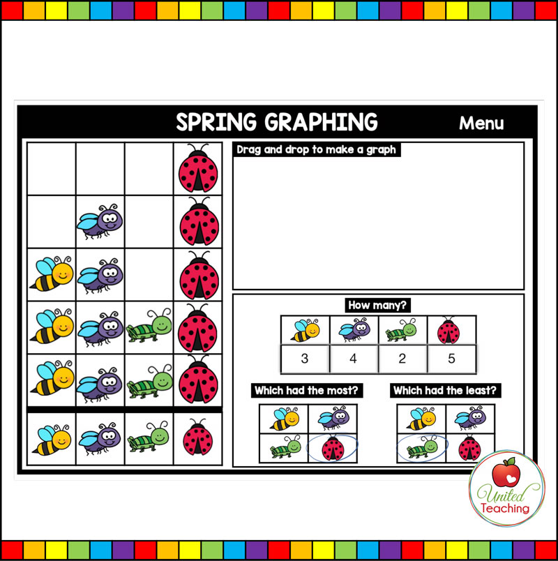 Spring Graphing Boom Cards