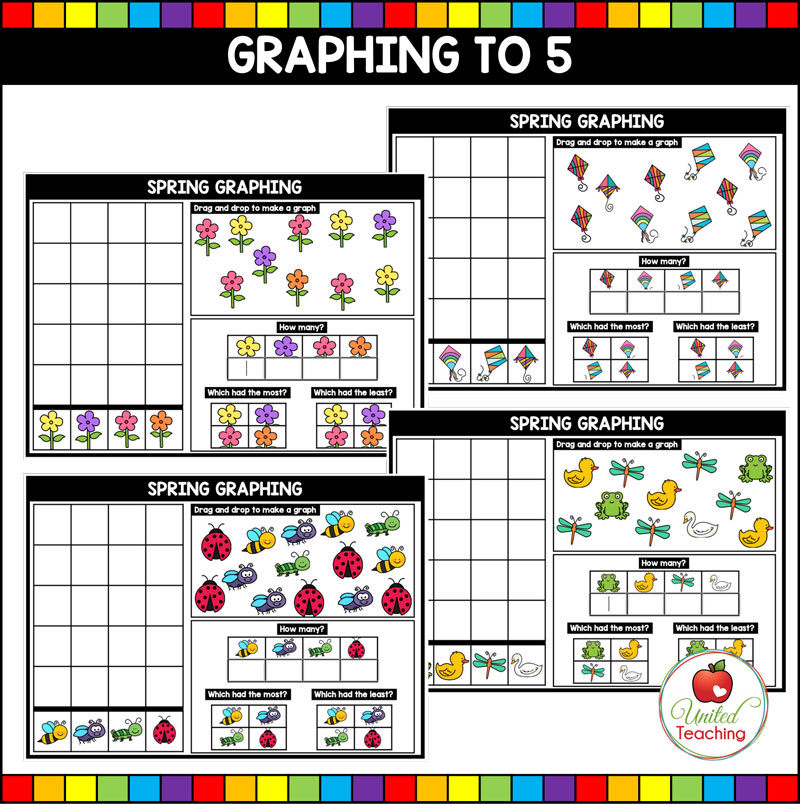 Spring Graphing to 5 Boom Cards