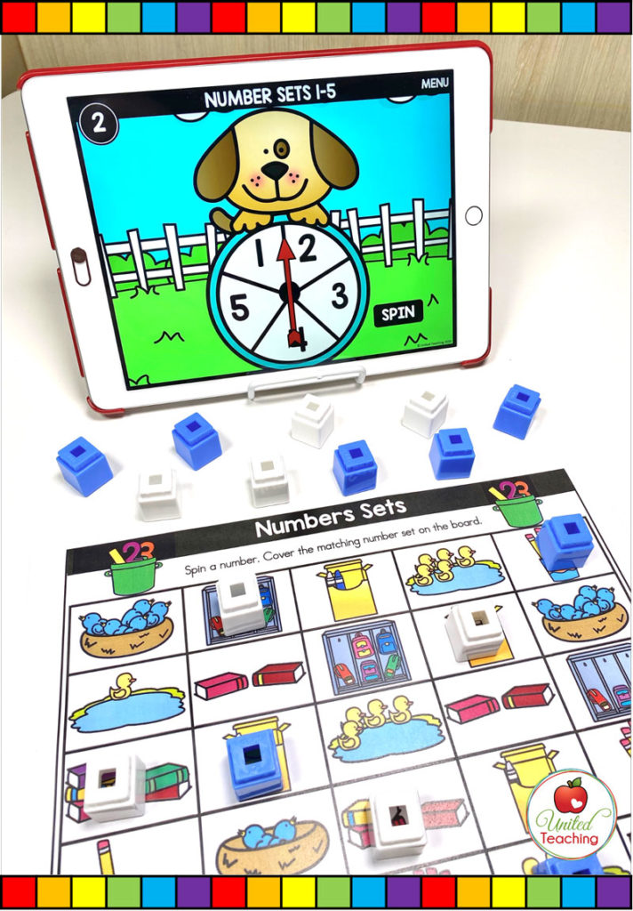 Counting Sets with Digital Spinner Game