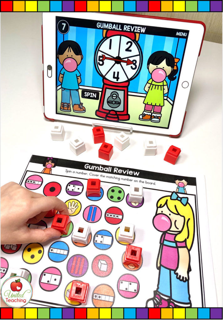 Number Review with Digital Spinner Game