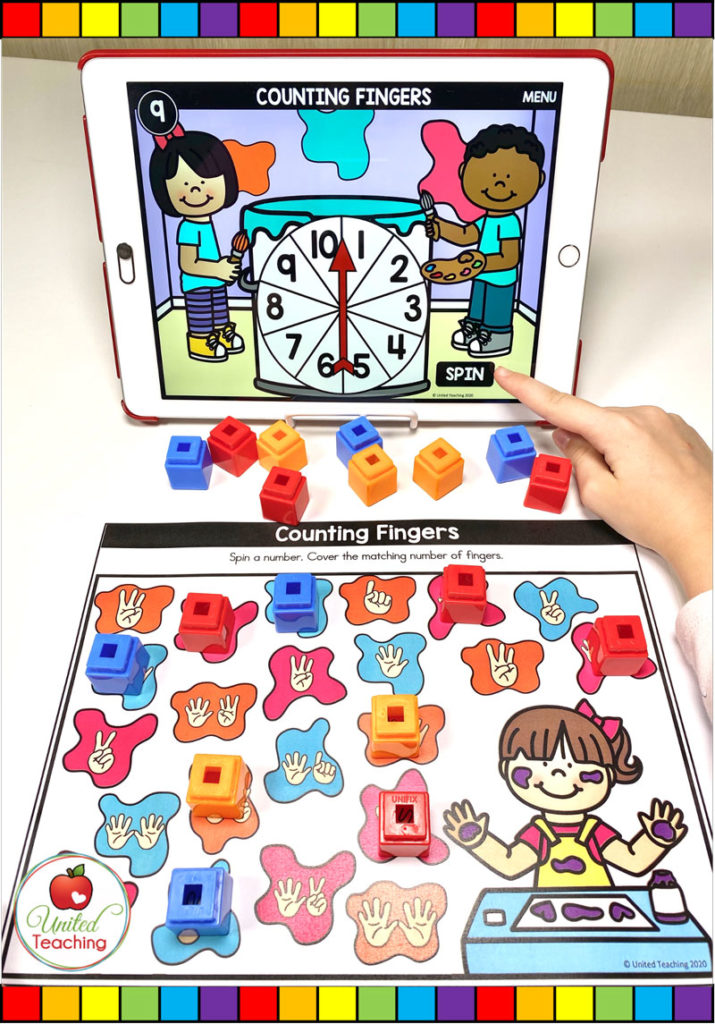 Counting to 10 with Digital Spinner Game