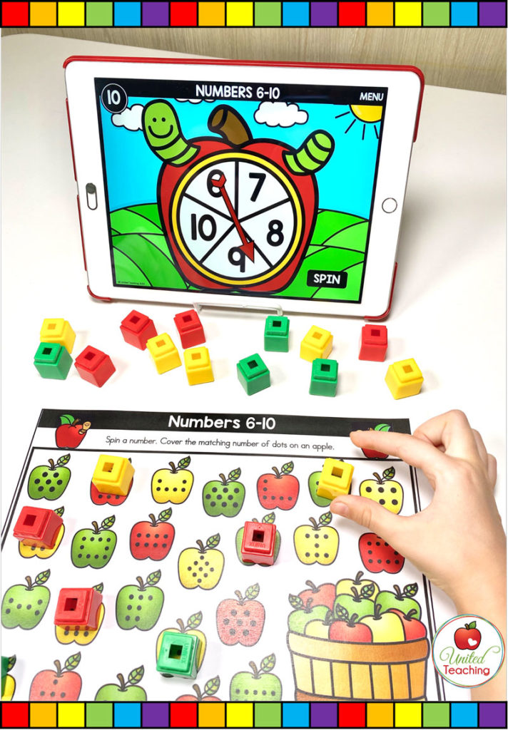 Subitizing Dots with Digital Spinner Game