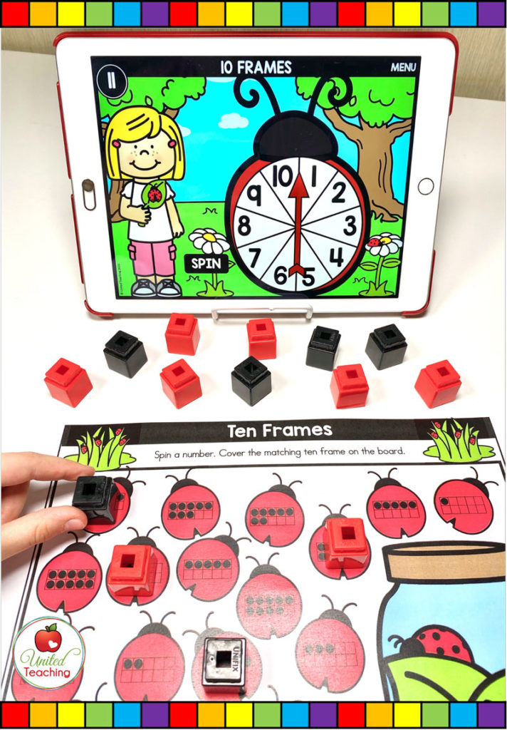 Ten Frames with Digital Spinner Game