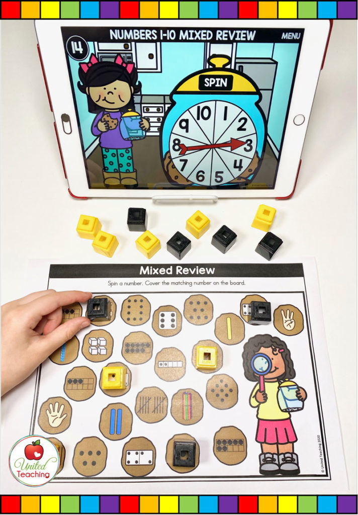 Counting 1-10 with Digital Spinner Game
