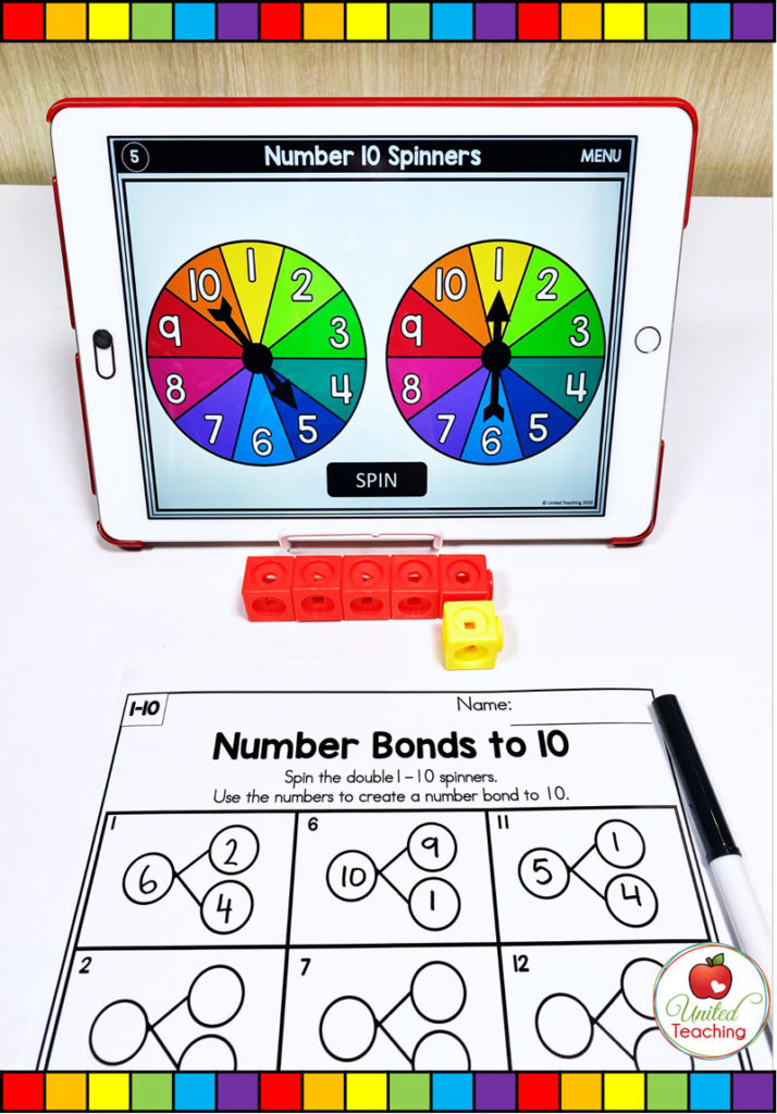 Number Bonds to 10 with Digital Spinner