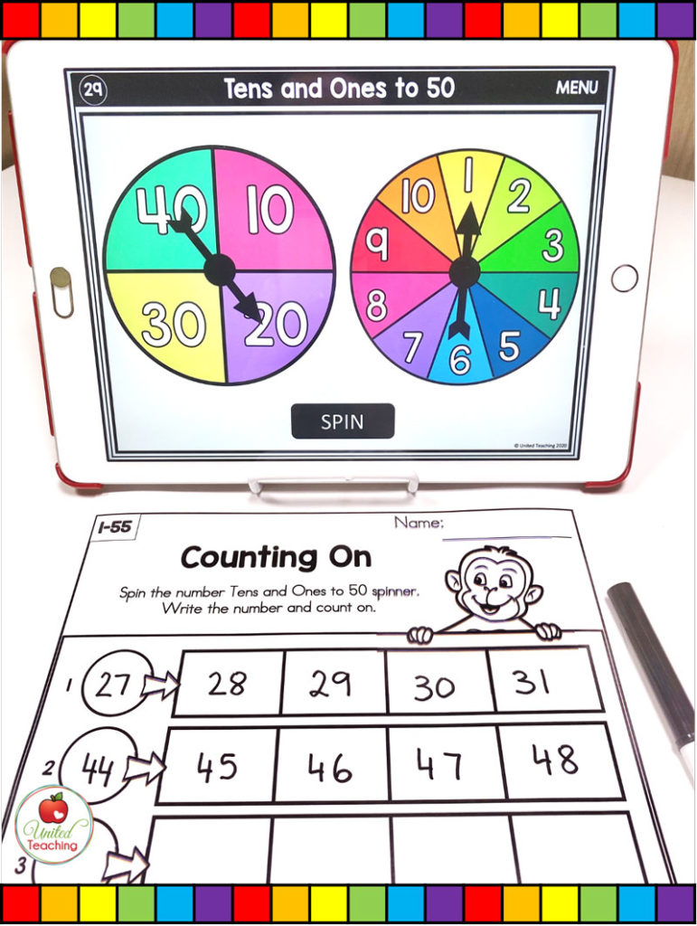 Counting On Math Activity with Digital Spinners