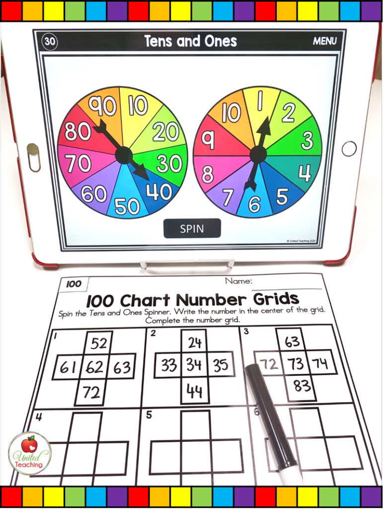 More and less Number Activities with Digital Spinners