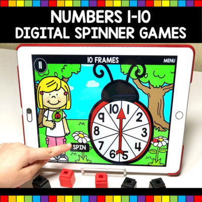 Numbers 1-10 Digital Spinner Games