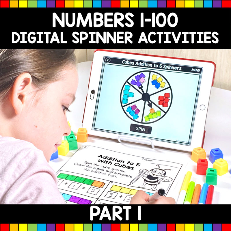 Numbers 1-100 Digital Spinner Activities