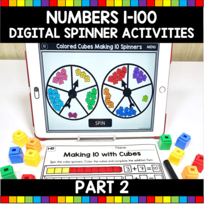 Numbers 1-100 Digital Spinner Math Activities Part 2