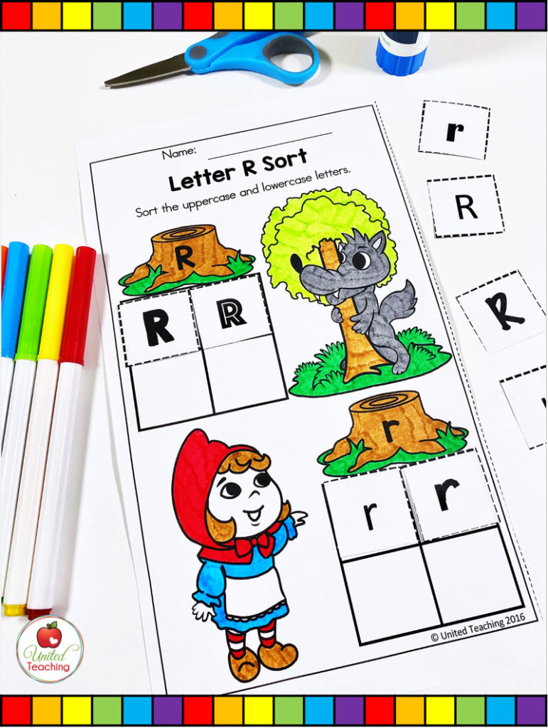 Red Riding Hood Letter R Sort
