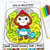 Red Riding Hood Color by Sight Word
