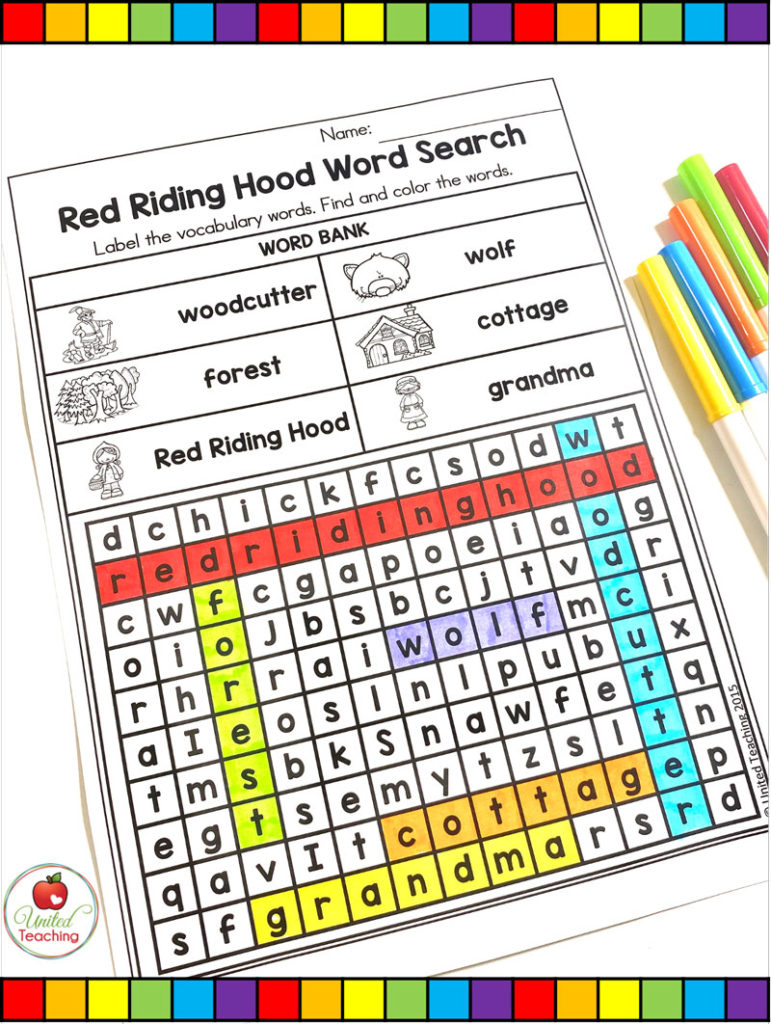 Red Riding Hood Word Search Activity