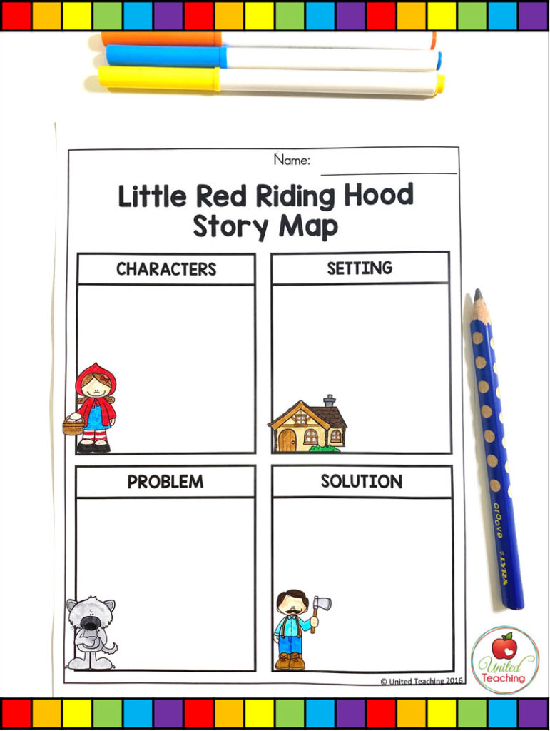 Red Riding Hood Story Map Activity