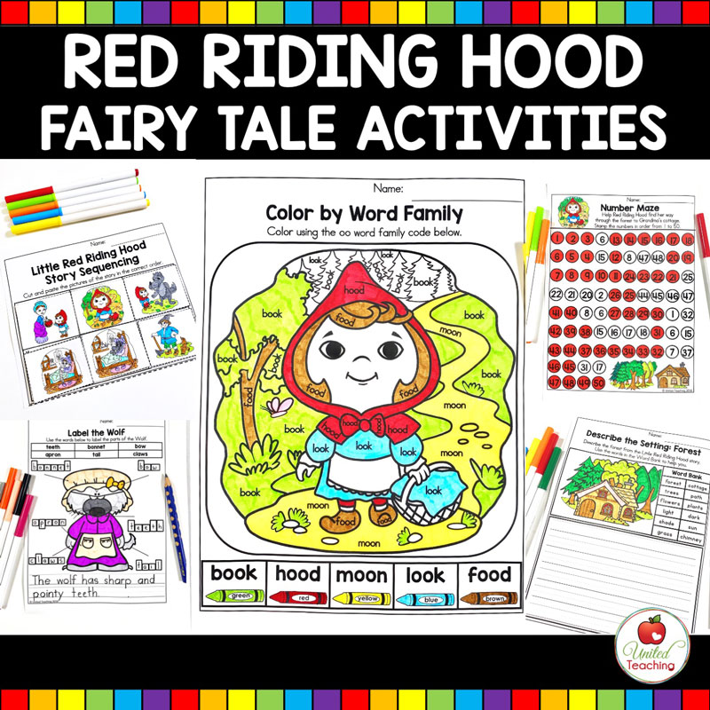 Red Riding Hood Fairy Tale Activities Main Image
