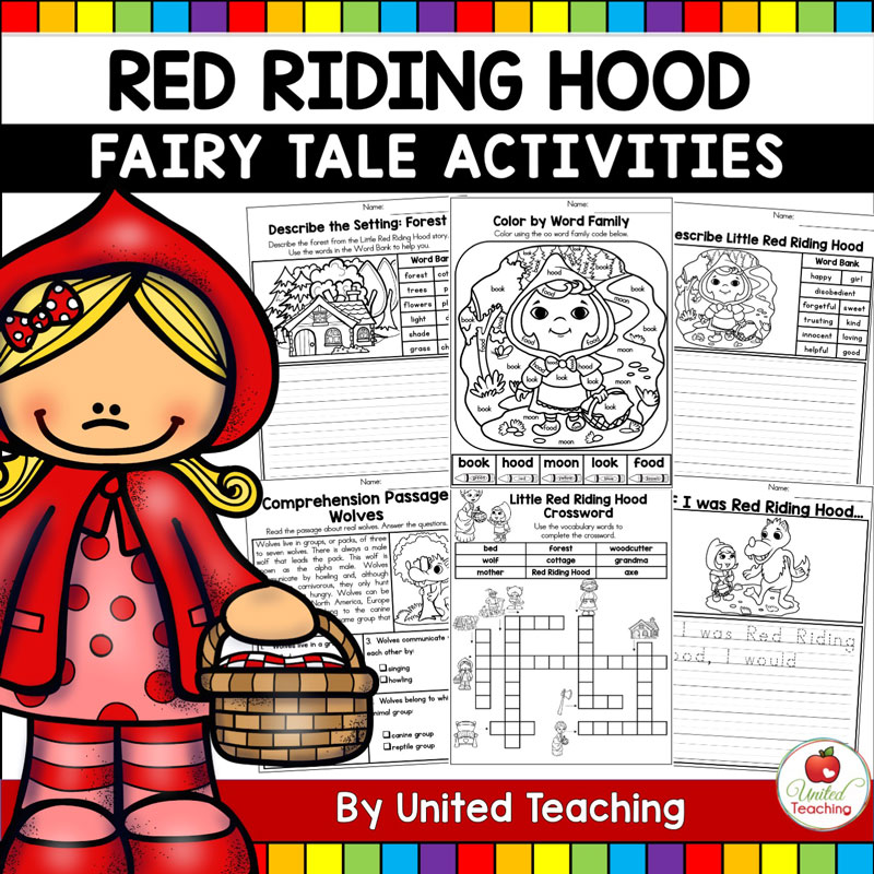 Red Riding Hood Fairy Tales Activities packet