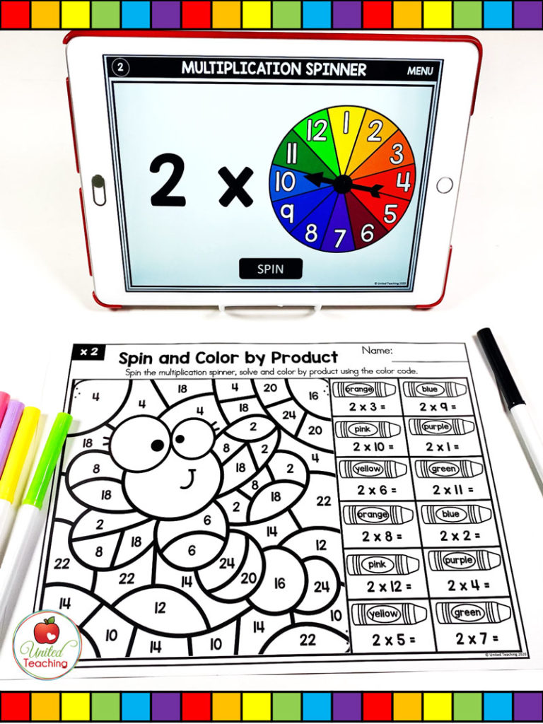 Multiplication Spin and Color By Product
