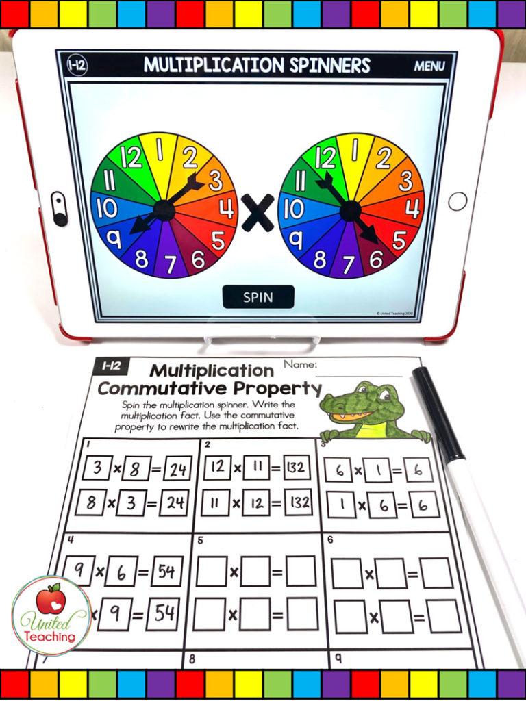 Multiplication Commutative Property