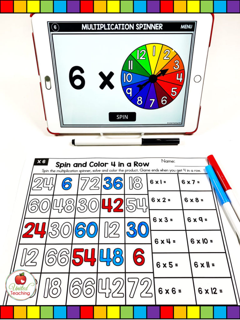 Multiplication Spin and Color 4 in a Row