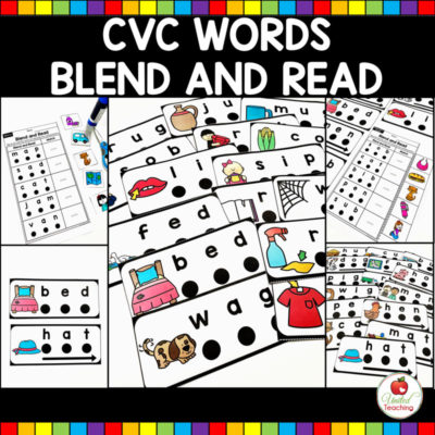 CVC Words Blend and Read Cards and Activities