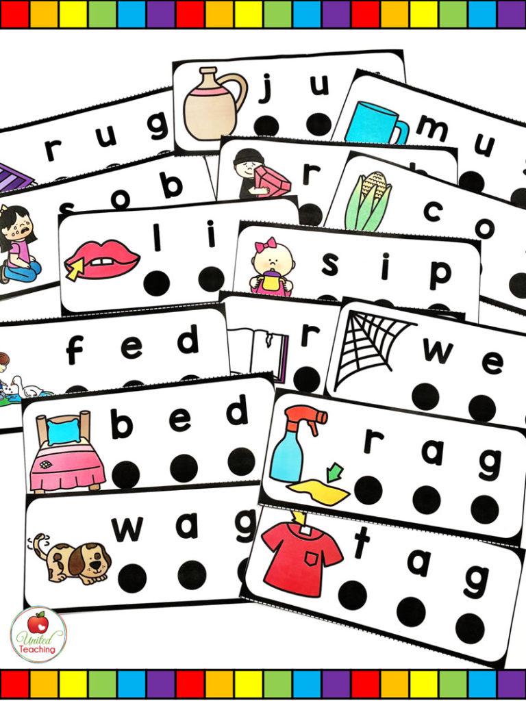 CVC Blend and Read dot cards