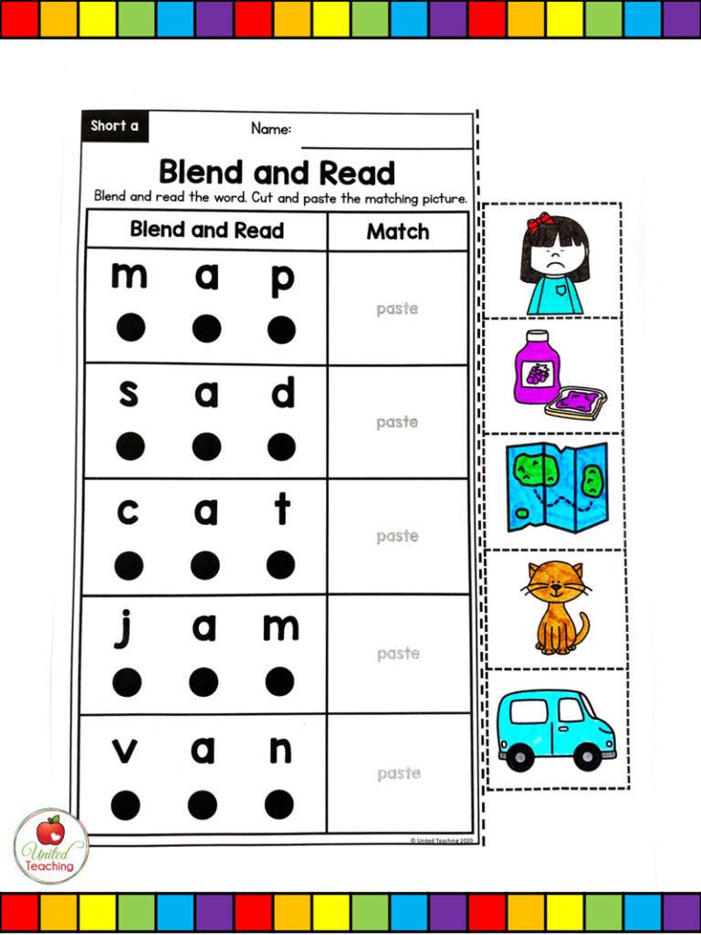 CVC Blend and Read Worksheet