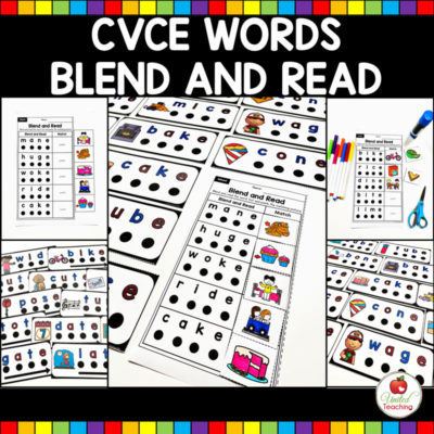 CVCE Words Blend and Read Cards and Activities