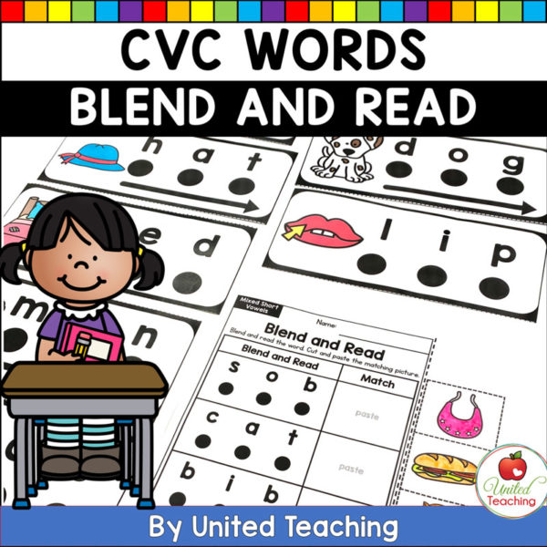 CVC Words Blend and Read Cards